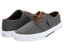Polo by Ralph Lauren - Faxon Low - Men's Fashion Sneaker - Grey - All Sizes NIB