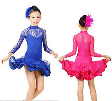 Kid's Child Girls Latin Dance Dancewear Showing Dress Dp052
