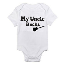 MY UNCLE ROCKS - Music / Dance / Gig / Jamming / Novelty Themed Baby Grow/Suit