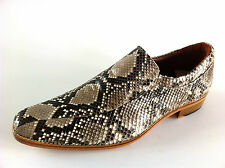HANDMADE MENS DRESS SHOES GENUINE PYTHON SNAKE SKIN LEATHER LOAFERS SLIP ON