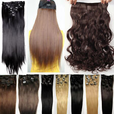 """UK 1718/19/24/26"""" clip in hair extensions with Best shade top quality Xmas gift"""