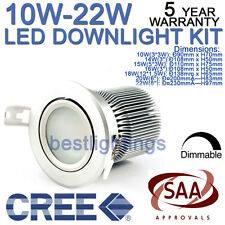 CREE LED DIMMABLE CEILING DOWNLIGHT COMPLETE KIT FIXTURE FITTING WITH SAA DRIVER