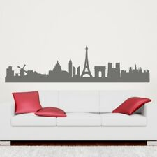 PARIS SKYLINE wall sticker eiffel tower decal vinyl france city outline stickers