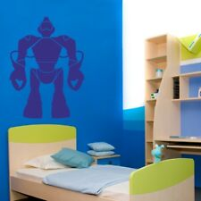 ROBOT wall sticker kids bedroom nursery childrens personalised art decal vinyl