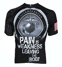 USMC Pain is Weakness Cycling Jersey by 83 Sportswear bike bicycle Mens Marines