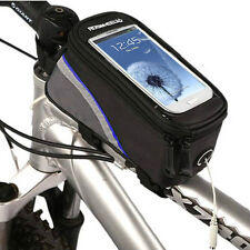 Bike Bicycle Frame Pannier Front Tube Bag Case Pouch Holder For Mobile Phone