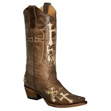 Circle G By Corral Ladies Brown Embroidered Cross Boot L5038 NIB New