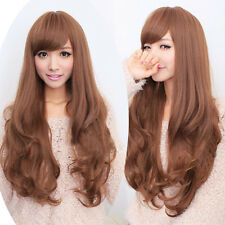 Heat Resistant long curly wavy hair full wigs womens weave cosplay Party wig