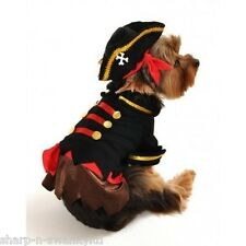 Pet Dog Cat Pirate Sailor Halloween Xmas Fancy Dress Costume Outfit Clothes XS-L