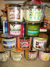 Bath & Body Works 3 Wick Candles- You Choose Scent -