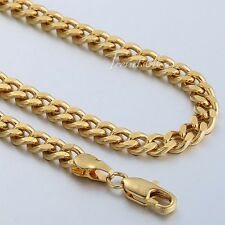 """GIFT 4MM MENS Chain BOYS Curb Cuban Necklace Gold Filled Chain DIY SIZE 18-36"""""""