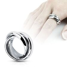 Triple Roll Links Band Ring 316L Stainless Steel R109
