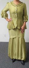 Design Today Highly  Textured Fabric Two-Piece Skirt Set in Sweet Lime