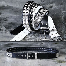 ByTheR Mens Double Pyramid Stud Belt Korea Fashion P0000YEO