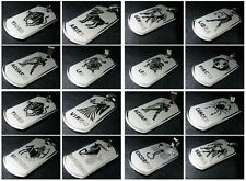 NEW Zodiac Amulet 12 Constellations Stainless Steel Pendant Dog Tag