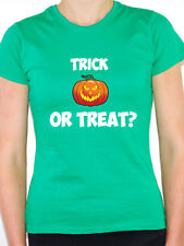 TRICK OR TREAT - Halloween / Pumpkin / Fun / Novelty Themed Women's T-Shirt