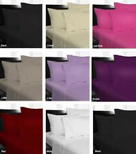 Easy Care Soft Microfibre Fitted Sheet Set - SINGLE, DOUBLE, QUEEN, KING