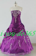 New Stock Purple Evening Wedding Bridesmaids Dress Size 6 8 10 12 14 16