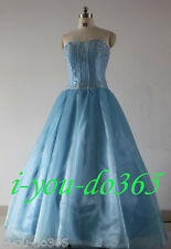 STOCK New Light Blue Evening Wedding Bridesmaids Dress Size 6 8 10 12 14 16