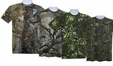 Mens Big Size Camouflage Camo Real Tree Jungle Print T Shirt Top