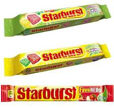 4x PACKS OF STARBURST - SOUR CHEWS, FLAVOUR MORPHS, FRUITY CHEWS - SOFT SWEETS