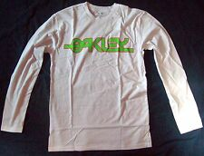 NWT MENS OAKLEY BACK IN THE DAY L/S CREW T TEE SHIRT WHITE S M L XL XXL 2XL