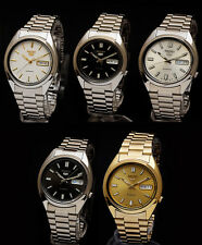 NEW SEIKO 5 DIAL DAY & DATE 21 JEWELS AUTOMATIC MEN'S WATCH OPEN BACK RRP £149