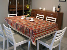 Vintage Rural Linen Rectangle Tablecloth Triangle Table Cover Restaurant Banquet