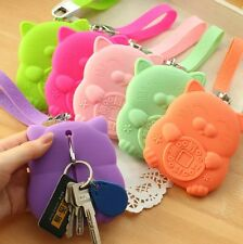 Korean Silicone Change Coin Debit Card Pack Key Pouch Purse Wallet Case Holder