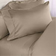 800TC 1PC FITTED SHEET BEIGE SOLID 100% EGYPTIAN COTTON @ WHOLESALE PRICE SALE