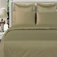 [ WHOLESALE PRICES ] 800TC 100% EGYPTIAN COTTON 1PC FLAT SHEET [ SOLID TAUPE ]
