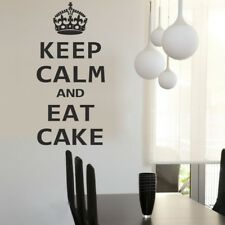 KEEP CALM wall sticker kitchen eat chocolate mural quote decal vinyl stickers