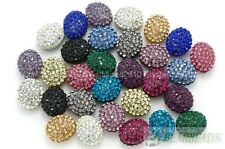 Top Quality Czech Crystal Rhinestones Pave Oval Bracelet Connector Charm Beads