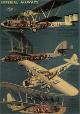 IMPERIAL AIRWAYS - 1937 - Vintage Airline Poster United Kingdom (SG4558)