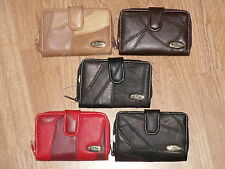 A Quality Leather Purse With Flap Over Wallet And Zip Purse Section.