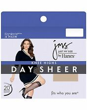 Just My Size JMS Plus Size Knee Highs, Sheer Toe 12-Pack - style 88408