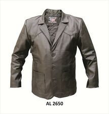 Allstate Mens 3 Button Lamb Skin Leather Blazer Western Jacket AL2650