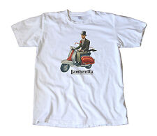 Classic Vintage 1950's Lambretta Scooter Decal T-Shirt - Vespa, Mod, Hipster