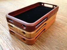LUXURY NATURAL HARD WOODEN PROTECTOR CASE REAL WOOD SKIN COVER APPLE IPHONE 4 4S