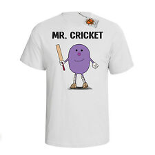 `Mr Cricket`Mens hobbies/occupation T-Shirt Perfect Cricketer gift dtg M75
