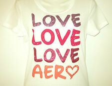 Aeropostale New With Tags Womens White Love Graphic T-Shirt Large~Xtra Large