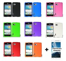 Rubber Silicone Case for T-Mobile LG Optimus F3 P659 MS659 + Screen Protector