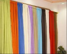 "SLOT TOP VOILE PANELS-VARIOUS COLOURS 36"" TO 90"" DROP"