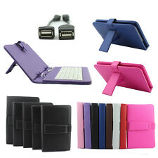 "Universal USB Keyboard Leather Case For Android Tablet 10.1"" 9.7"" 9"" 8"" 7"" + OTG"