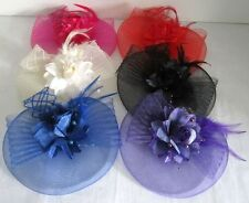 Flower Lace Feather Fascinators Hair Clips Headband Net Hat Party Wedding Veils