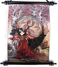 BEAUTY & THE BEAST FANTASY WALL SCROLL~Wall Hanging Vinyl Art Gothic AMY BROWN