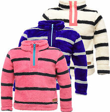 Regatta Sally Fleece Fluffy Hi-Pile Half Zip Girls Age 3 - 16 yrs Top Jumper