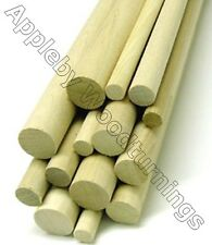 1-10 pcs Imperial Size Oak Dowel Rods 36 Inches (914mm) Long - Various Dia