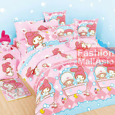 Sanrio My Melody Fitted Sheet Pillow Case Duvet Cover Bedding Bath Bubble Pink