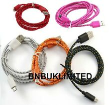 Fabric 2m extra long data 2 in1 sync + charger micro usb cables for mobile phone